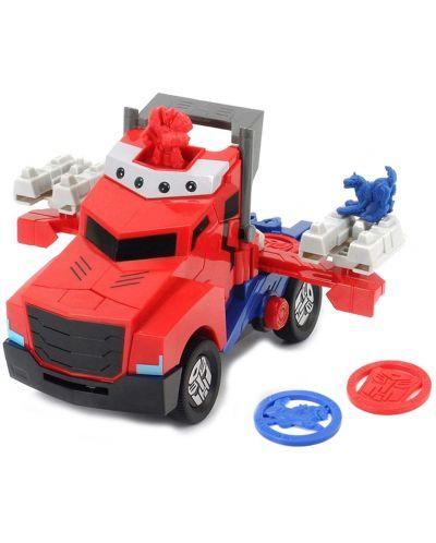 Детска играчка Smoby - Камион за битка Оптимус Прайм, със звук и светлина - 3