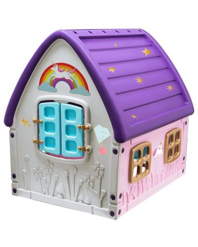 Детска градинска къща за игра Starplast - Unicorn Grand House - 2