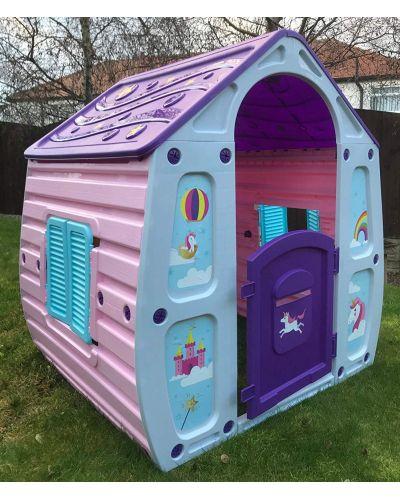 Детска градинска къща за игра Starplast - Unicorn Grand House - 4