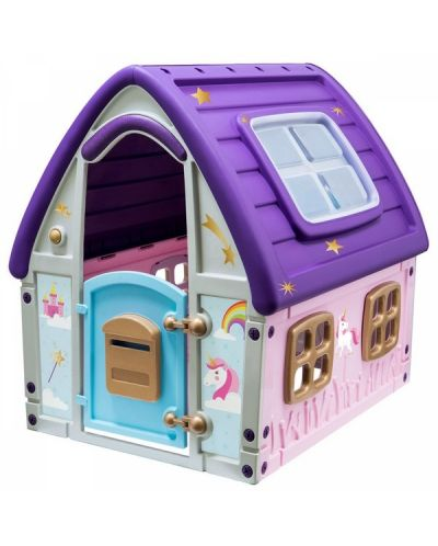 Детска градинска къща за игра Starplast - Unicorn Grand House - 1
