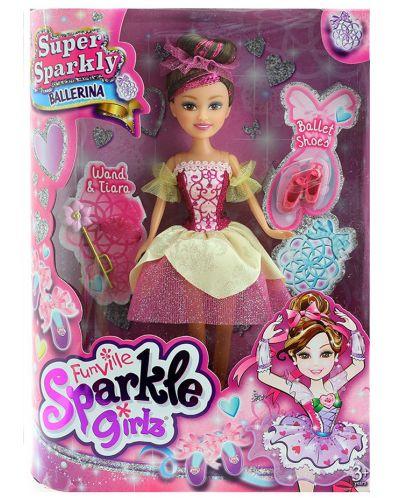 Кукла Funville Sparkle Girlz - Балерина Super Sparkly, 27 cm, асортимент - 4