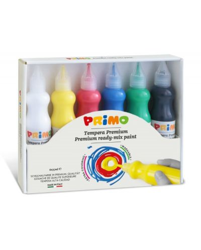Темперни бои Primo - 6 цвята, 75 ml - 1