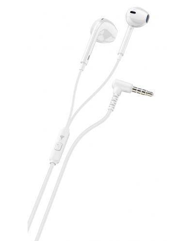 Слушалки с микрофон Ploos - бели - 1