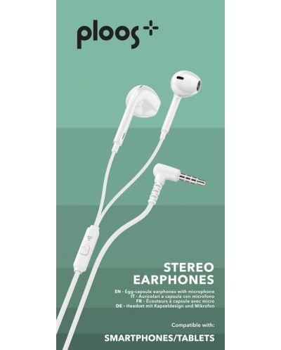 Слушалки с микрофон Ploos - бели - 2
