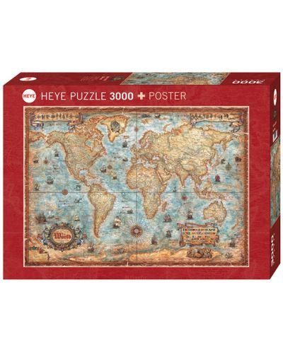 Пъзел Heye от 3000 части - Светът, Райко Жигич - 1