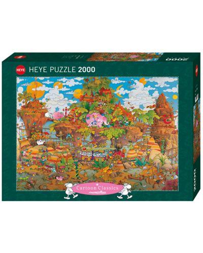 Пъзел Heye от 2000 части - Влак, Мордильо - 1