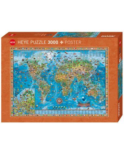 Пъзел Heye от 3000 части - Удивителния свят - 1