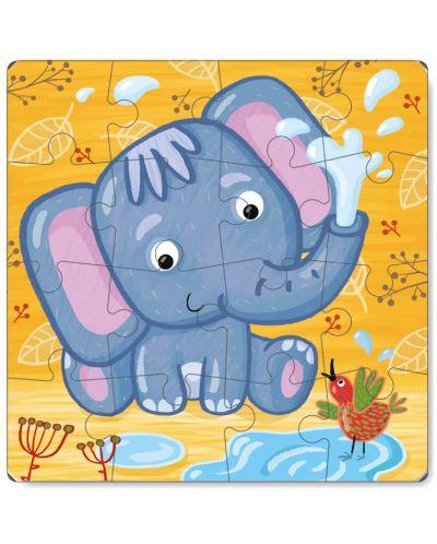 Детски пъзел Dodo от 16 части - Слон - 2