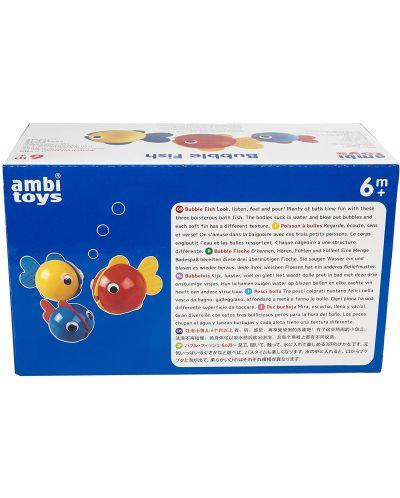 Играчка за баня Ambi Toys - Рибки за балончета Bubble Fish - 6