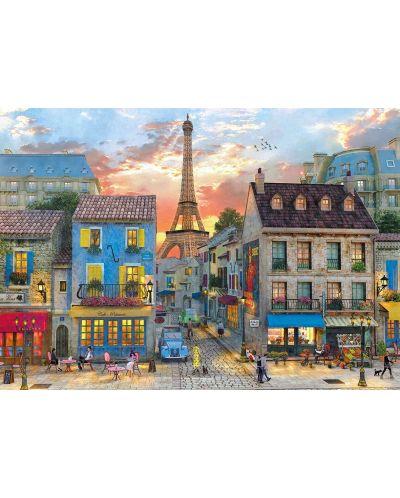 Пъзел Clementoni от 1500 части - Улиците на Париж, Доминик Дейвисън - 2