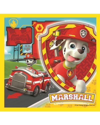 Пъзел Trefl 3 в 1 - Маршал, Ръбъл и Чейс, Пес Патрул - 3