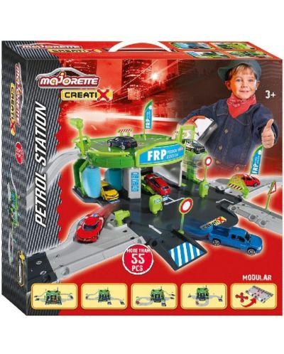 Игрален комплект Majorette Creatix - Бензиностанция, с количка - 3