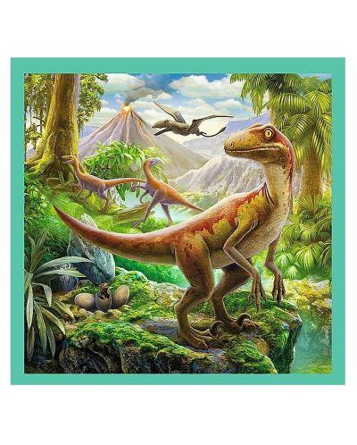 Пъзел Trefl 3 в 1 - Динозавърски свят - 2