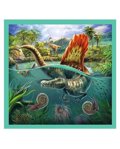 Пъзел Trefl 3 в 1 - Динозавърски свят - 3
