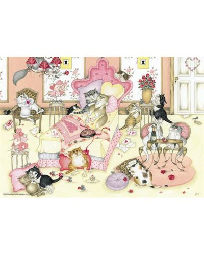 Пъзел Anatolian от 500 части - Влюбените котки, Линда Джейн Смит - 2
