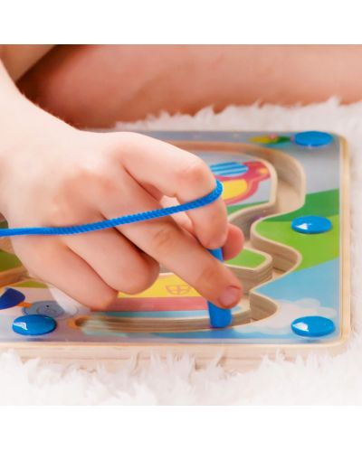Дървена играчка Classic World - Магнитна дъска, трафик - 4
