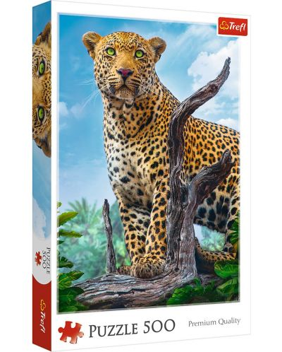 Пъзел Trefl от 500 части - Леопард - 1