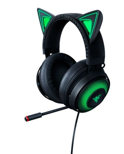 Гейминг слушалки Razer Kraken Kitty Ed. - черни - 1