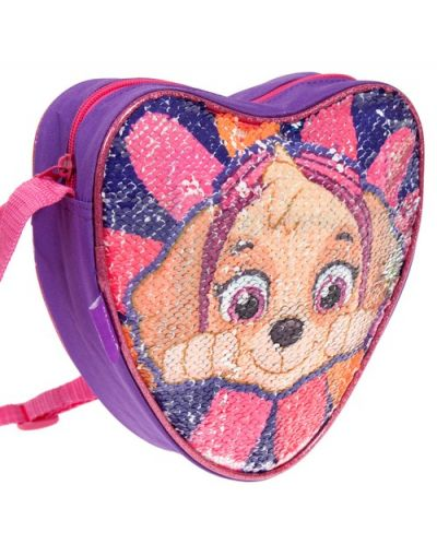 Детска чанта за рамо Starpak Paw Patrol - Сърце, с пайети, асортимент - 2