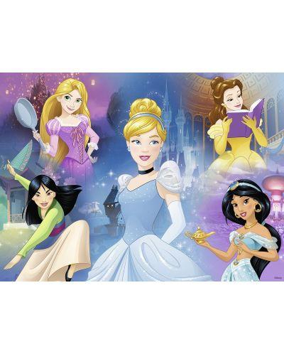 Пъзел Ravensburger от 100 XXL части - Очарователни принцеси, с книжка за оцветяване - 2
