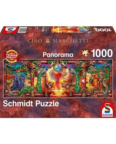 Панорамен пъзел Schmidt от 1000 части - Царството на огнената птица, Чиро Марчети - 1