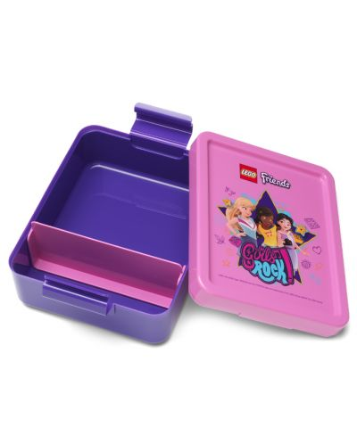 Комплект бутилка и кутия за храна Lego Friends Lunch - Girls Rock - 3