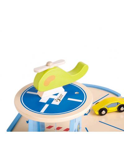 Дървена играчка Classic World - Гараж с колички на 3 нива - 2