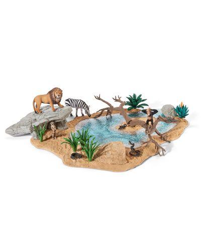 Фигурки Schleich от серията Аксесоари към Диви Животни: Езеро в саваната - 1