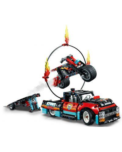 Конструктор Lego Technic - Камион и мотоциклет за каскади (42106) - 6