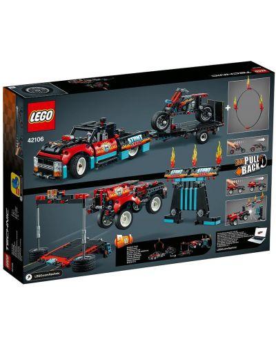 Конструктор Lego Technic - Камион и мотоциклет за каскади (42106) - 3
