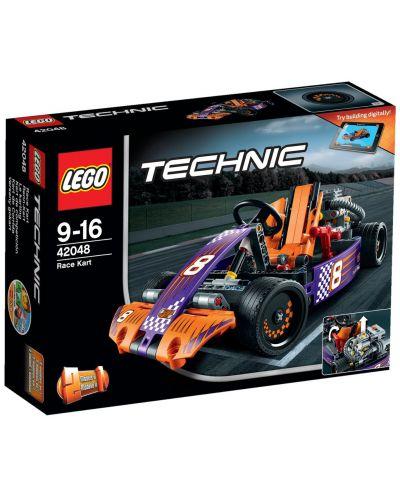 Конструктор Lego Technic - Състезателна картинг кола (42048) - 1