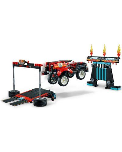 Конструктор Lego Technic - Камион и мотоциклет за каскади (42106) - 7