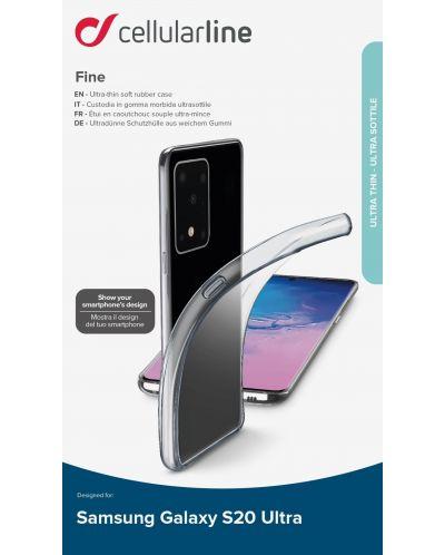 Калъф Cellularline - Fine, за Samsung Galaxy S20 Ultra, прозрачен - 4