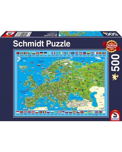 Пъзел Schmidt от 500 части - Преоткривай Европа - 1