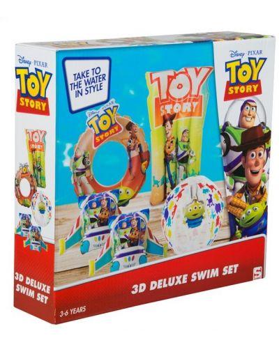 Детски надуваем комплект Disney Toy Story - Дюшек, пояс, раменки и топка - 6