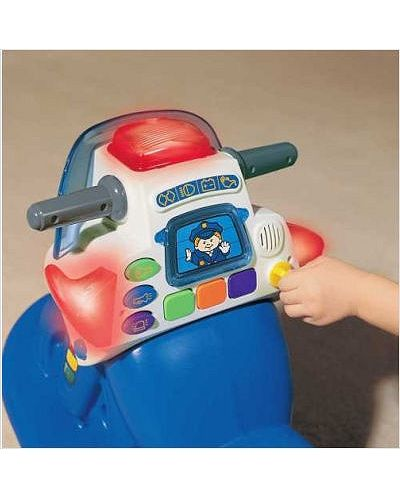 Детски люлеещ се полицейски мотор със светлини и звуци - 3