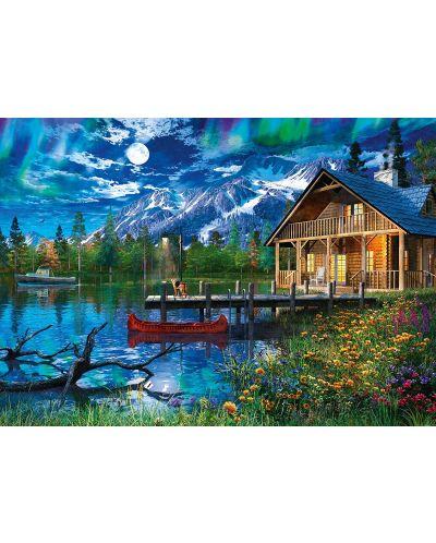 Пъзел Schmidt от 500 части - Планинското езеро на лунна светлина - 2