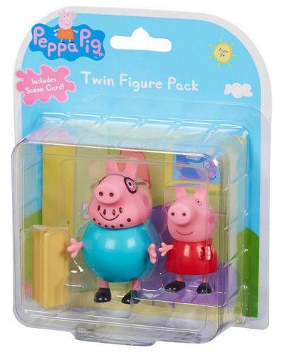 Комплект фигурки Peppa Pig - 2 фигурки с декор, асортимент - 1