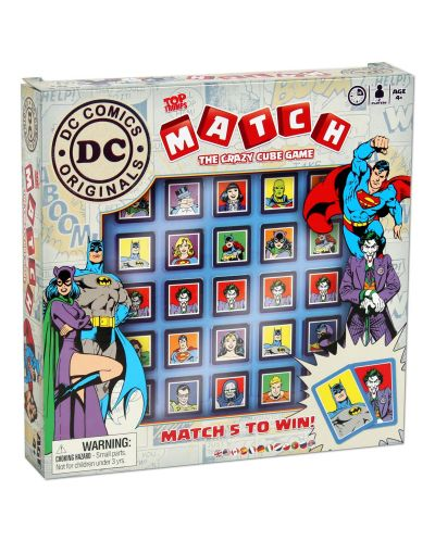 Игра с карти и кубчета Top Trumps Match - DC Comics - 4
