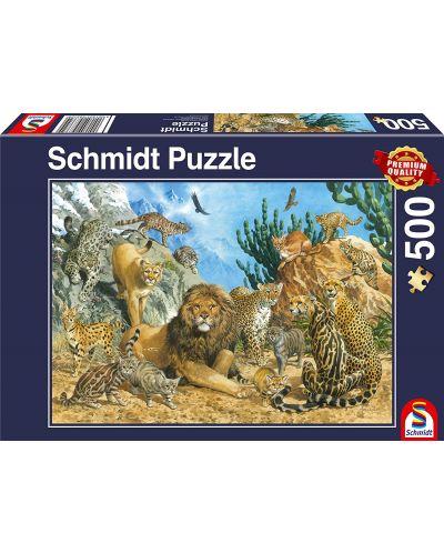 Пъзел Schmidt от 500 части - Хищните котки - 1