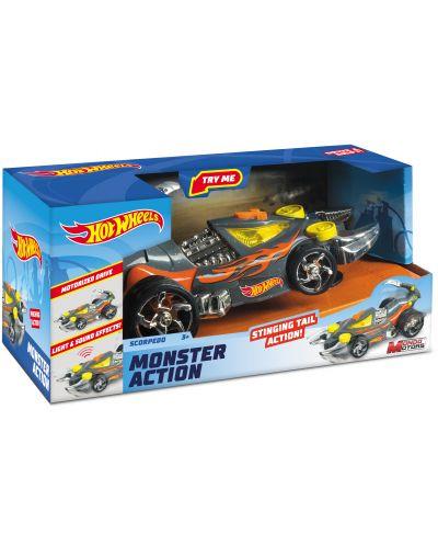 Количка-скорпион Mondo Motors Hot Wheels - Scorpedo, със звук и светлина - 1