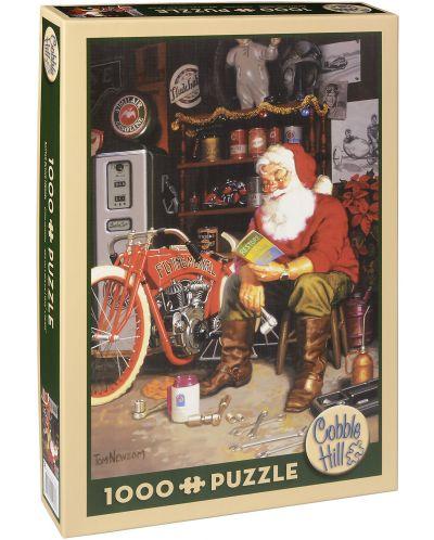 Пъзел Cobble Hill от 1000 части - Летящата машина на Дядо Коледа, Том Нюсъм - 1