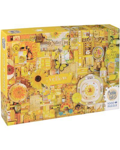 Пъзел Cobble Hill от 1000 части - Жълто, Шели Дейвис - 1