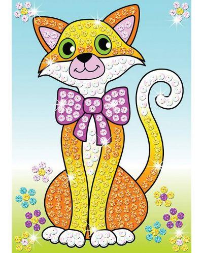 Творчески комплект KSG Crafts Sequin Art - Изкуство с пайети, Котки - 2