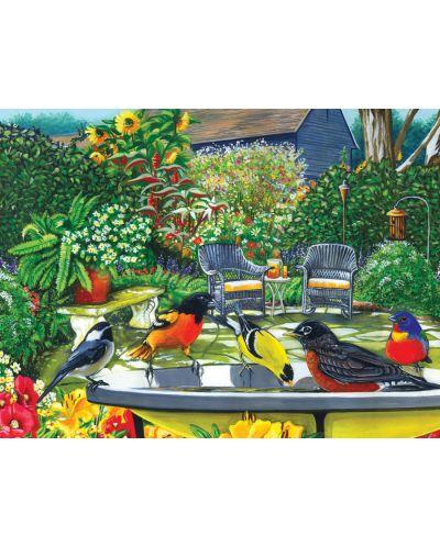 Пъзел Cobble Hill от 500 части - Птича баня - 2