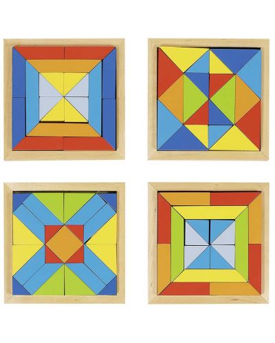 Дървена мозайка Goki - Светът на формите - 1