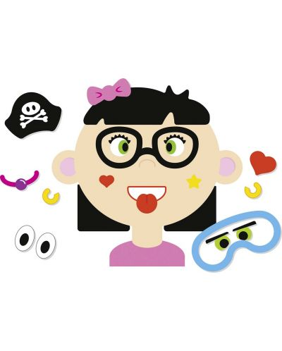 Магнитна игра Goki - Смешни лица на момичета - 3