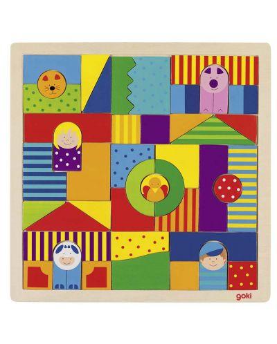 Дървена мозайка Goki - Ферма - 1