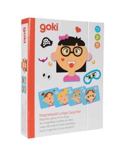 Магнитна игра Goki - Смешни лица на момичета - 5
