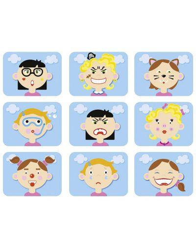 Магнитна игра Goki - Смешни лица на момичета - 2